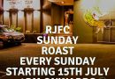RJFC Sunday Roast – This Sunday