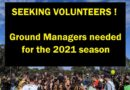 Seeking volunteer Ground Managers