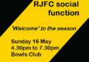 RJFC social functions – mark your diaries now!